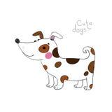 χαριτωμένο σκυλί κινούμενων σχεδίων Στοκ εικόνα με δικαίωμα ελεύθερης χρήσης