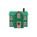 Χαριτωμένο σπίτι κινούμενων σχεδίων (έκδοση) Στοκ εικόνα με δικαίωμα ελεύθερης χρήσης