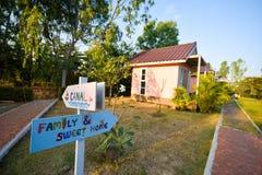 Χαριτωμένο σπίτι υπολοίπου σε Sukhothai, Ταϊλάνδη Στοκ φωτογραφία με δικαίωμα ελεύθερης χρήσης