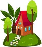 χαριτωμένο σπίτι ελεύθερη απεικόνιση δικαιώματος