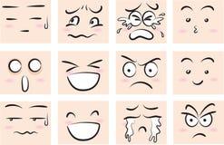 Χαριτωμένο συναισθηματικό πρόσωπο έκφρασης
