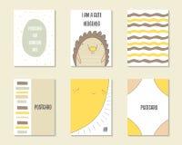 Χαριτωμένο συρμένο χέρι doodle ντους μωρών, γενέθλια, κάρτες κομμάτων Στοκ φωτογραφία με δικαίωμα ελεύθερης χρήσης