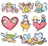 χαριτωμένο σχέδιο αγγέλων σας Στοκ εικόνα με δικαίωμα ελεύθερης χρήσης