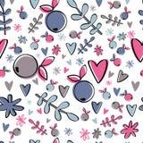 Χαριτωμένο σχέδιο μούρων Ζωηρόχρωμο απλό υπόβαθρο Στοκ Εικόνες