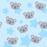 Χαριτωμένο σχέδιο αγοριών koala με τα αστέρια Απεικόνιση αποθεμάτων