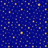 Χαριτωμένο σχέδιο για τα παιδιά - φωτεινά αστέρια στο σαφή ουρανό Στοκ εικόνες με δικαίωμα ελεύθερης χρήσης