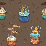 Χαριτωμένο σχέδιο cupcake Στοκ Εικόνες
