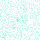 Χαριτωμένο σχέδιο doodle με το άνευ ραφής σχέδιο swatch στην επιτροπή Στοκ Εικόνα