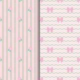 Χαριτωμένο σχέδιο Lollipop και τόξο στο ροζ Στοκ Φωτογραφία