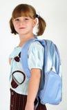 χαριτωμένο σχολείο κοριτσιών Στοκ Εικόνα