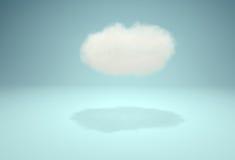 Χαριτωμένο σύννεφο στο στούντιο πέρα από το μπλε υπόβαθρο Στοκ εικόνα με δικαίωμα ελεύθερης χρήσης