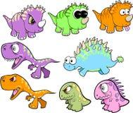 χαριτωμένο σύνολο δεινοσαύρων Στοκ φωτογραφία με δικαίωμα ελεύθερης χρήσης