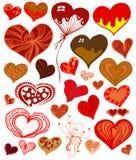 χαριτωμένο σύνολο καρδιών Στοκ εικόνα με δικαίωμα ελεύθερης χρήσης