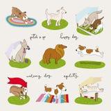 Χαριτωμένο σύνολο σκυλιών Στοκ εικόνες με δικαίωμα ελεύθερης χρήσης