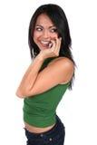χαριτωμένο τηλέφωνο κορι&tau στοκ φωτογραφίες