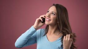 χαριτωμένο τηλέφωνο κορι&tau στοκ εικόνα