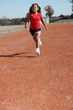 χαριτωμένο τρέξιμο κοριτσιών στοκ εικόνα με δικαίωμα ελεύθερης χρήσης