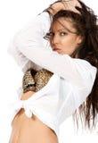 χαριτωμένο τρίχωμα brunette τέλει&om Στοκ Φωτογραφία