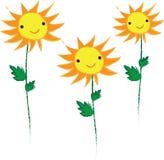 Χαριτωμένο υπόβαθρο ηλίανθων χαμόγελου κίτρινο Στοκ εικόνα με δικαίωμα ελεύθερης χρήσης