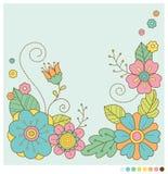 Χαριτωμένο υπόβαθρο λουλουδιών άνοιξη κρητιδογραφιών Στοκ Εικόνα