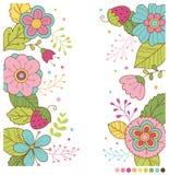 Χαριτωμένο υπόβαθρο λουλουδιών άνοιξη κρητιδογραφιών Στοκ εικόνες με δικαίωμα ελεύθερης χρήσης