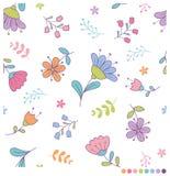 Χαριτωμένο υπόβαθρο λουλουδιών κρητιδογραφιών Στοκ φωτογραφία με δικαίωμα ελεύθερης χρήσης