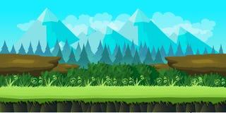Χαριτωμένο υπόβαθρο παιχνιδιών των βουνών και της χλόης Στοκ εικόνες με δικαίωμα ελεύθερης χρήσης