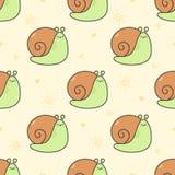 Χαριτωμένο υπόβαθρο σχεδίων σαλιγκαριών άνευ ραφής ελεύθερη απεικόνιση δικαιώματος