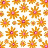 Χαριτωμένο υπόβαθρο σχεδίων λουλουδιών Στοκ Εικόνες