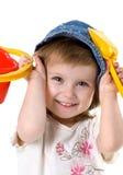 χαριτωμένο φτυάρι κοριτσ&iota Στοκ εικόνες με δικαίωμα ελεύθερης χρήσης