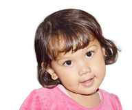 Χαριτωμένο χαμόγελο μικρών κοριτσιών Στοκ εικόνες με δικαίωμα ελεύθερης χρήσης