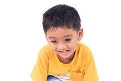 Χαριτωμένο χαμόγελο αγοριών llittle παιδιών ασιατικό Στοκ Εικόνα