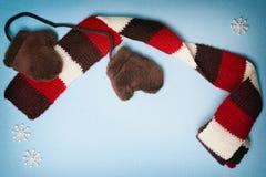 Χαριτωμένο χειμερινό πλαίσιο με το διάστημα αντιγράφων Στοκ Φωτογραφίες
