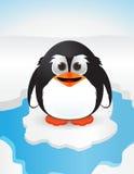χαριτωμένο χιόνι penguin απεικόνιση αποθεμάτων