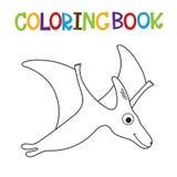 Χαριτωμένο χρωματίζοντας βιβλίο του Dino Στοκ φωτογραφία με δικαίωμα ελεύθερης χρήσης