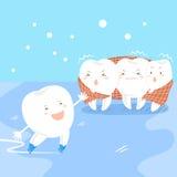 Χαριτωμένο δόντι κινούμενων σχεδίων με ευαίσθητο Στοκ Εικόνες