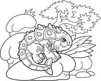Χαριτωμένο ankylosaurus, αστεία απεικόνιση Στοκ εικόνα με δικαίωμα ελεύθερης χρήσης