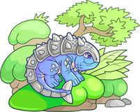 Χαριτωμένο ankylosaurus, αστεία απεικόνιση Στοκ φωτογραφία με δικαίωμα ελεύθερης χρήσης