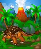 Χαριτωμένο ankylosaurus κινούμενων σχεδίων Απομονωμένη απεικόνιση ενός δεινοσαύρου κινούμενων σχεδίων Στοκ φωτογραφία με δικαίωμα ελεύθερης χρήσης