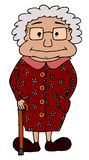 Χαριτωμένο chuby grandma Στοκ Φωτογραφία