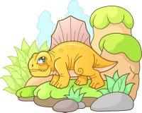 Χαριτωμένο Dimetrodon, αστεία εικόνα Στοκ φωτογραφία με δικαίωμα ελεύθερης χρήσης
