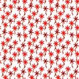 Χαριτωμένο floral άνευ ραφής σχέδιο watercolor Κόκκινο boho απεικόνιση αποθεμάτων
