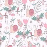 χαριτωμένο floral πρότυπο άνευ ρ&a Στοκ φωτογραφία με δικαίωμα ελεύθερης χρήσης
