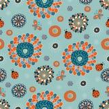 χαριτωμένο floral πρότυπο άνευ ρ&a Στοκ φωτογραφίες με δικαίωμα ελεύθερης χρήσης
