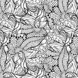 Χαριτωμένο floral συρμένο χέρι doodle σχέδιο Στοκ φωτογραφία με δικαίωμα ελεύθερης χρήσης
