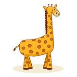 χαριτωμένο giraffe κινούμενων σχεδίων Στοκ Φωτογραφίες