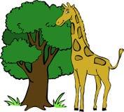 Χαριτωμένο giraffe διανυσματική απεικόνιση