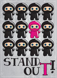 χαριτωμένο ninja χαρακτήρα κινουμένων σχεδίων καρτών Στοκ Φωτογραφία