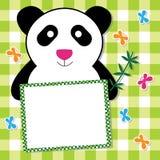 χαριτωμένο panda καρτών Στοκ Εικόνες