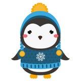 χαριτωμένο penguin Ζωικός χαρακτήρας kawaii κινούμενων σχεδίων Διανυσματική απεικόνιση για τη μόδα παιδιών και μωρών ελεύθερη απεικόνιση δικαιώματος